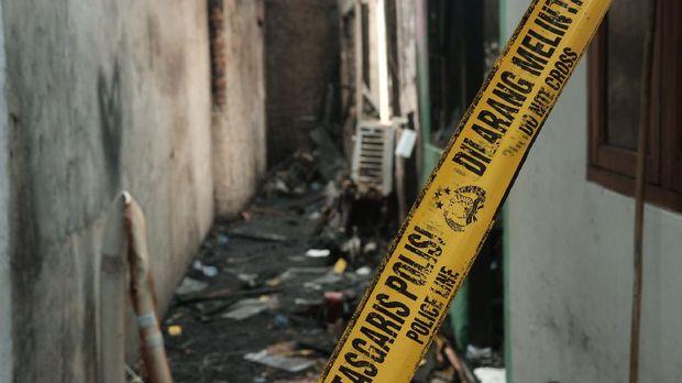 Foto: Kontrakan di Matraman yang terbakar (Foto: Andhika Prasetia/detikcom)