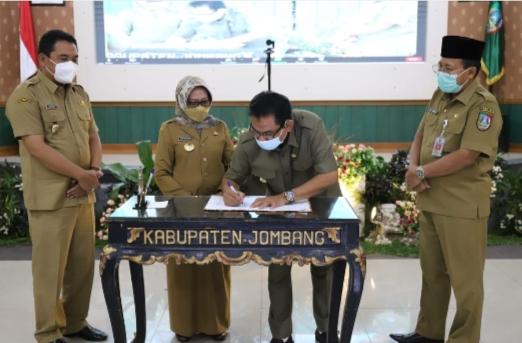 Bupati, Wakil Bupati, Ketua DPRD Jombang serta Sekda Jombang